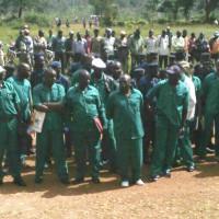 Arrivée à la Cour d'appel de Gitega des    prévenus encore en détention.