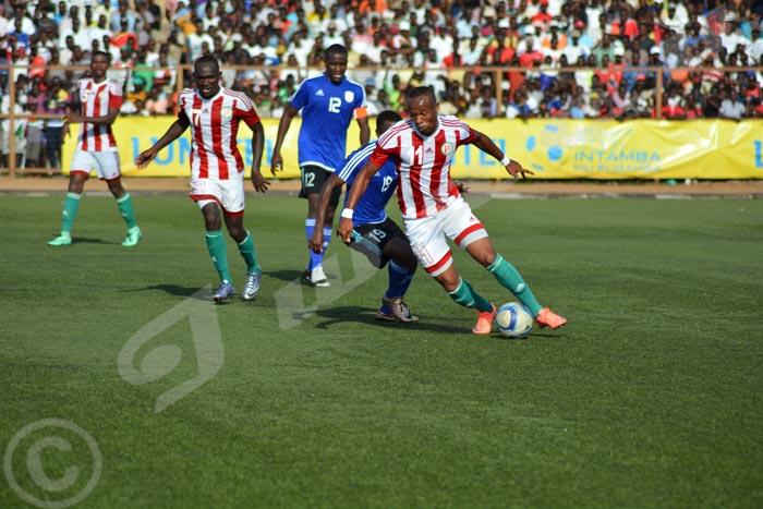 Lundi, 28 mars 2016 - La Namibie qui est classée derrière le Burundi l'a battu à Bujumbura par 3 buts à 1. C'était ce samedi 26 mars alors que le match retour aura lieu ce mardi 29 en Namibie ©O.N/Iwacu