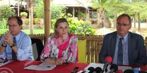 Mardi, 8 mars 2016 - Selon Maya Sahli-Fadel, une des 3 experts des Natin-unies en droits de l'Homme au Burundi (au milieu), ceux qui pris les armes doivent participer au dialogue inter-burundais ©O.N/Iwacu