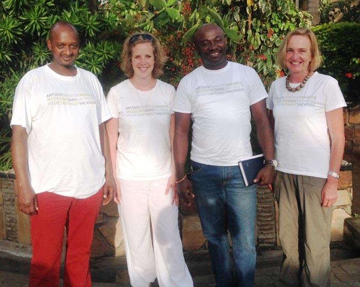 Ernest en mission au Burundi avec ses amis de «Médecins Sans Vacances»
