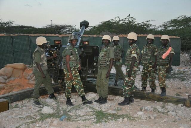 Une position tenue par les militaires burundais de l'Amisom