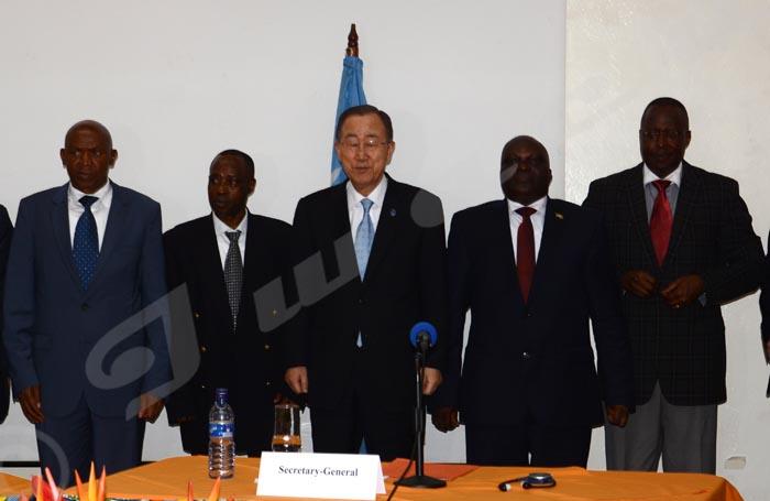 Ban Ki-moon rencontre les membres de l'opposition et de la mouvance présidentielle