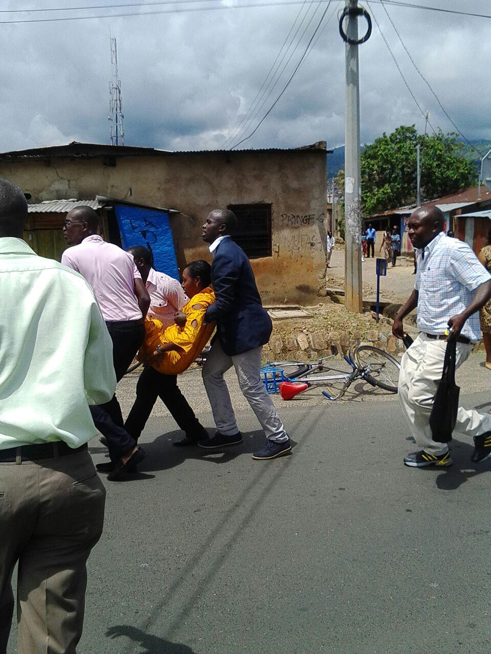 L'épouse du ministre Nivyabandi évacuée