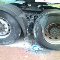 La partie  du véhicule touchée