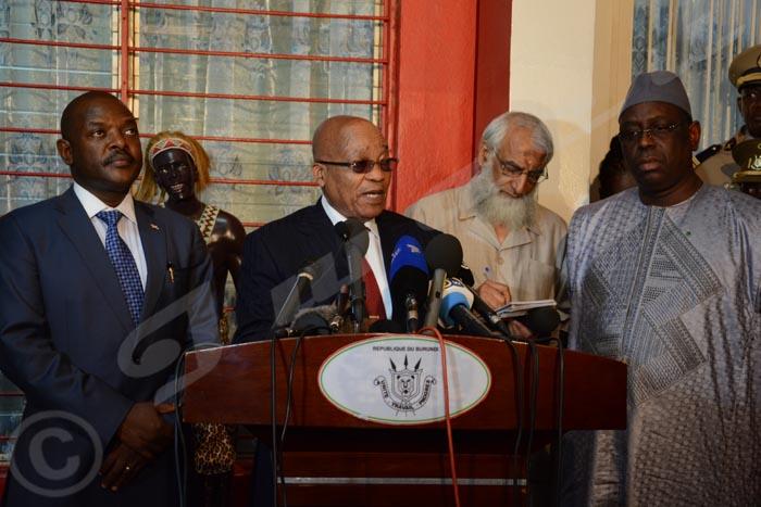 Le 24 février 2016, cinq présidents africains débarquent à Bujumbura pour une visite de deux jours.