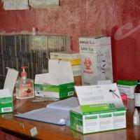 Au laboratoire du CDS Nyabihanga, le matériel est quasi inexistant