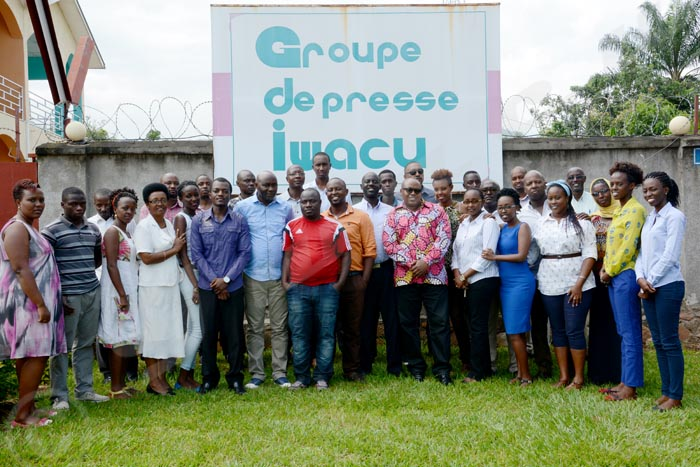 Personnel du Groupe de presse Iwacu