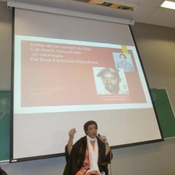 28 avril 2016 à l'Université de Montréal : soirée intimiste autour de la mémoire d'un juste, le commandant Martin Ndayahoze