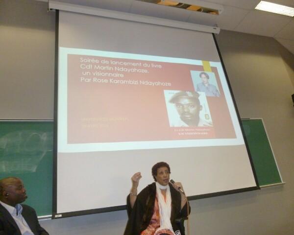 Mme Rose Ndayahoze au cours de son témoignage