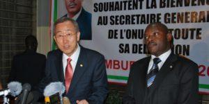 Ban Ki-moon : «Il faut un dialogue inclusif, fondé sur la Constitution et les principes de l'Accord d'Arusha»