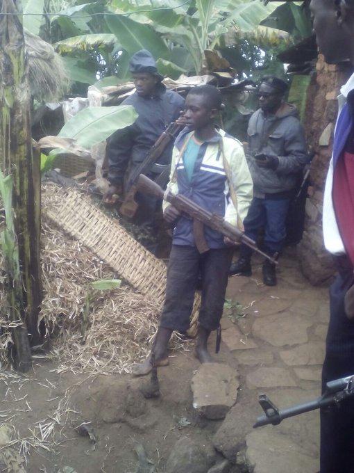 Le jeunearrêté à Mugamba.