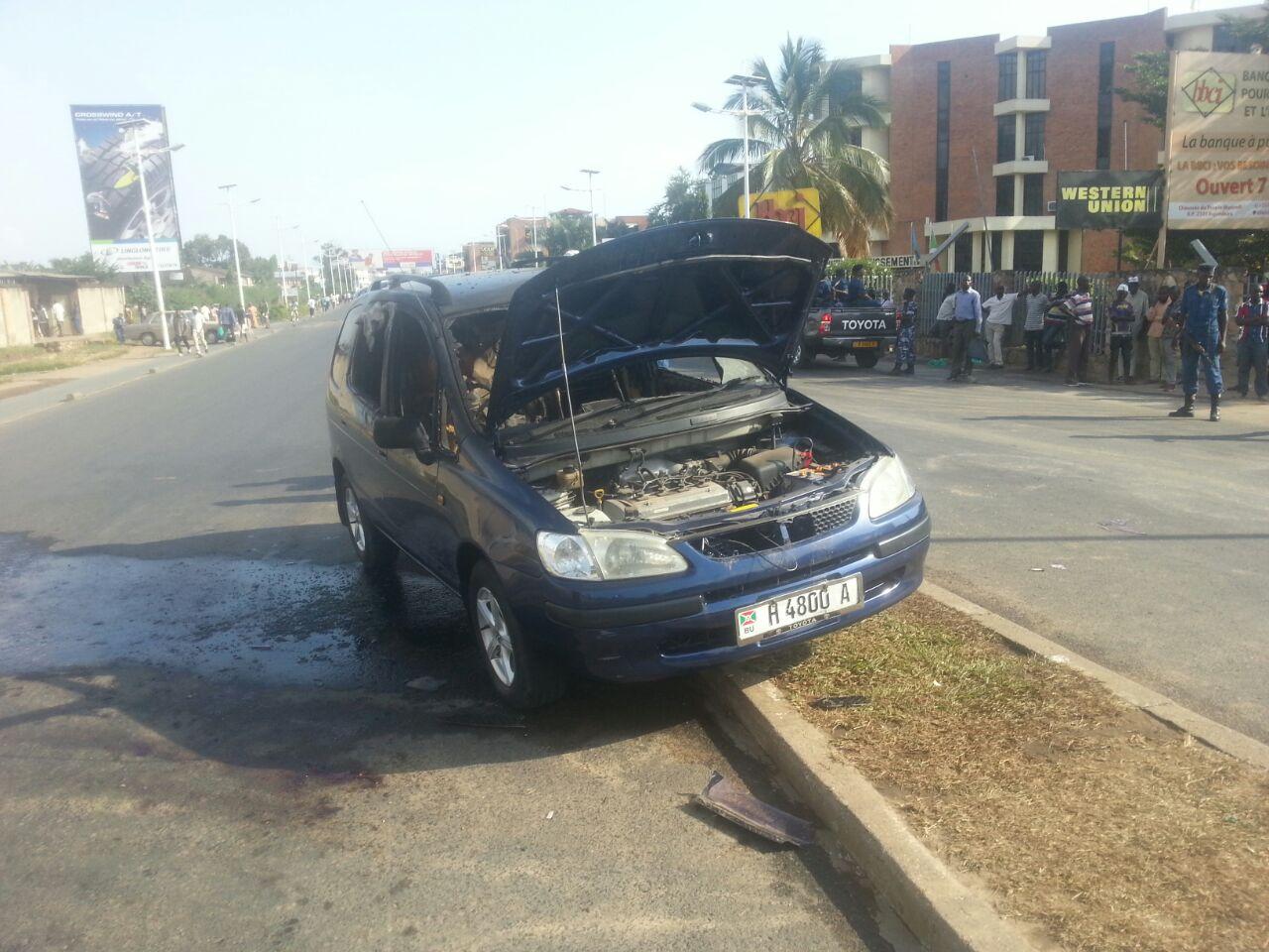 Le véhicule a été endommagé