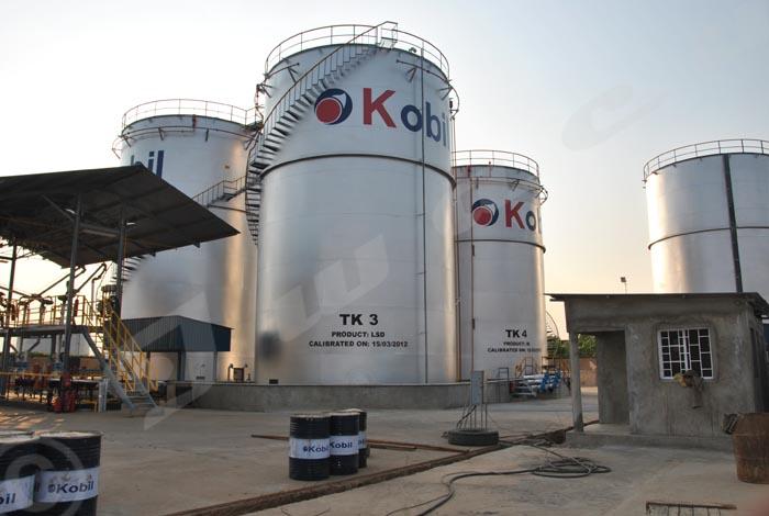Les silos d'entreposage du carburant de la société kényane Kobil