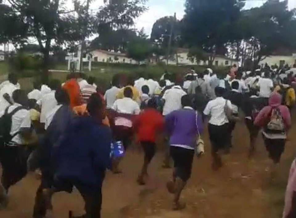 Une manifestations spontanées des élèves