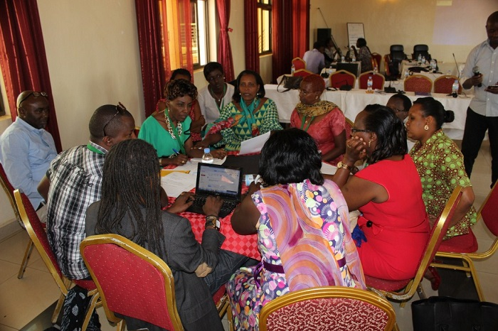 La délégation burundaise en pleine séance de travail