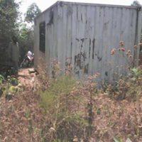 Le container dans lequel les prisonniers étaient détenus momentanément
