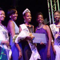 Lundi, 15 mai 2016- De gauche à droite: Ornella Gahimbare (2ème dauphine 2016), Ariella Kwizera (miss 2011), Ange-Bernice Ingabire (miss Burundi 2016) Mélodie Mbonayo (miss 2012) et Mona-Walda Kaneza (1ère dauphine 2016)