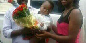 Egide Mwemero accueilli par sa famille