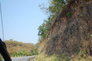 Un tournant sur la montagne Honga