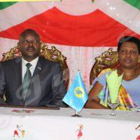 Le président Pierre Nkurunziza,à la cérémonie d'échanges de voeux, le mardi 20 décembre