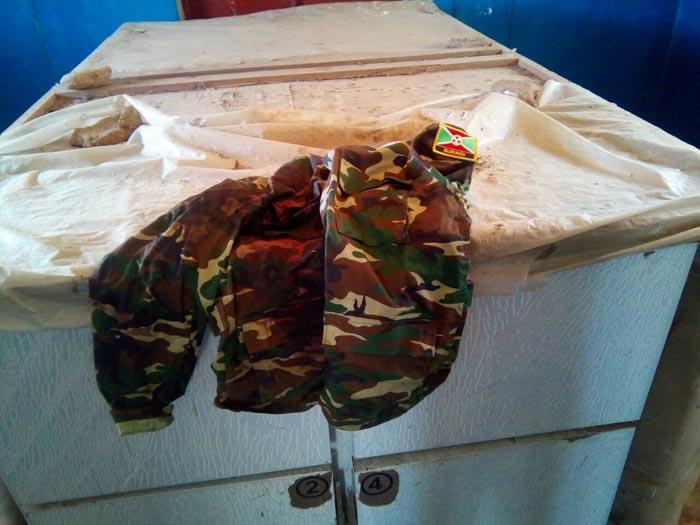 L'une des chambres froides à la morgue de l'hôpital d'Uvira avant que les corps y soient déposés.