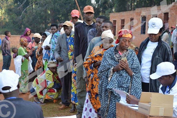Élections présidentielles à Buye le 21 juillet 2015.