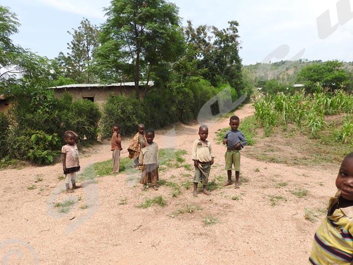 Ces enfants du village Muyange I affirment n'avoir rien mangé depuis plus de 24h