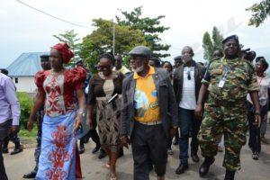 La ministre de la justice burundaise et le gouverneur du Sud-Kivu.