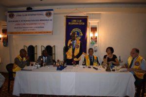 Le Lion Christian Simbananiye, président du Lions Club Bujumbura Doyen, prononçant son mot d'accueil aux invités