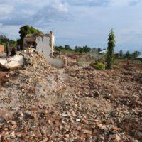 Autrefois bâti, le site Gasenyi est devenu un champ de ruines