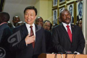 Li Yuanchao, vice-président chinois annonce que la chine va renforcer davantage la coopération avec Burundi