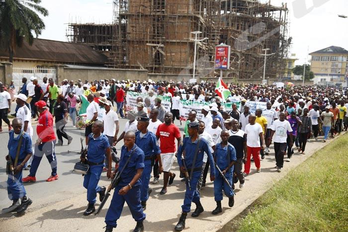 Demonstration commemorating 2 years after the failed coup. Bujumbura, Burundi May 13, 2017. Stringer