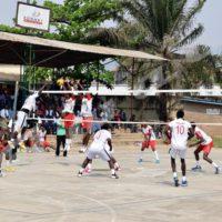 Seul Muzinga volleyball(en rouge) reste sur de bons résultats parmi les autres disciplines collectives
