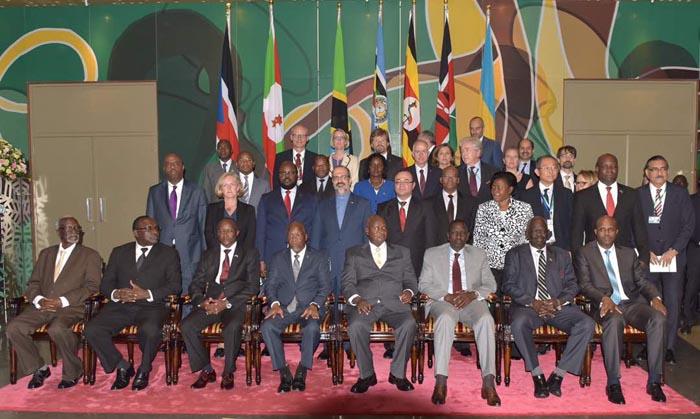 Le 18ème sommet des chefs d'Etat de l'EAC, Dar-es Salaam, Tanzanie.