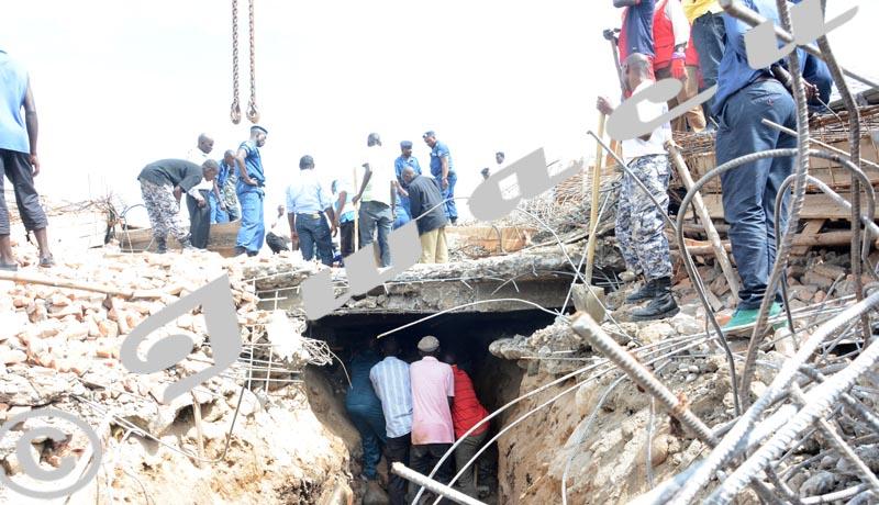 Effondrement d'un immeuble en construction à Kiyange, nord-Ouest de la capitale Bujumbura, dans la zone de Buterere.