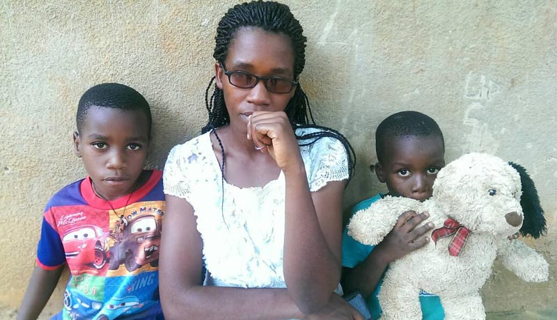 La famille de Jean Bigirimana dans le dénuement
