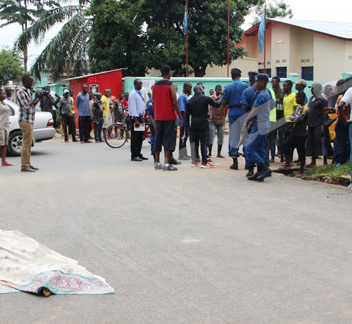 Mardi, 5 février 2019 - Un conducteur de taxi-vélo a été tué par un policier en début d'après-midi. C'était tout près de la zone Rohero sur l'avenue Muyinga ©Onesphore Nibigira/Iwacu