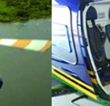 Deux des hélicoptères de l'Akagera Aviation  ©Iwacu