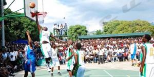 Basketball : rencontre entre les joueurs de Bujumbura et l'équipe AND1 ©Iwacu
