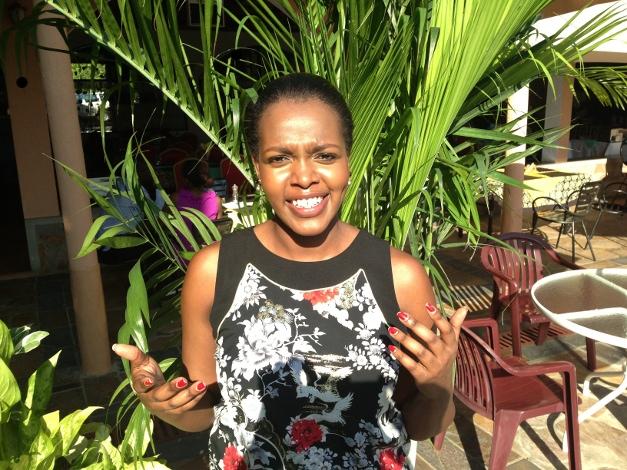 1. Bonita Mutoni, directrice commerciale d'Akagera Aviation : « Nous pensons que le Burundi est un lieu vraiment unique, et c'est pour cela que ce partenariat Rwanda-Burundi nous intéresse beaucoup. » ©Iwacu