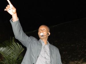 Kigingi lors de son spectacle au Vuvuzela ©dr