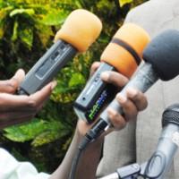 Micros des journalistes