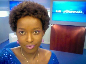 Pamela Kazekare, journaliste a Antenne Centre télévision (ACTV), Belgique ©Iwacu