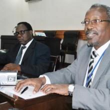 Pontien Ndabaneze, secrétaire exécutif adjoint du Conseil inter-universitaire pour l'Afrique de l'Est pendant la conférence de presse ©Iwacu