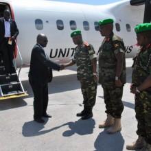 Arrivée du nouveau Commandant en chef des forces armées de l'Amisom, le Lt-Gnrl Silas Ntigurirwa. Une photo d'©Iwacu