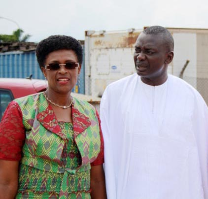 Jeanne Gapiya ANSS Chairperson, Ismaila Mbegue UNFPA Representative. ©Iwacu