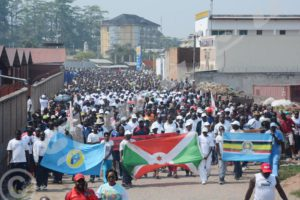 The population of Bujumbura participated in demonstrations against the EINUB report.