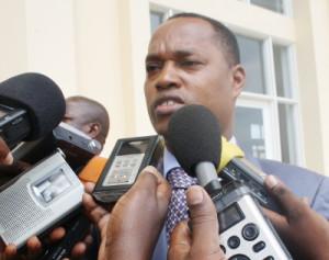 Déception du ministre de l'Intérieur, après la séance de vote de l'Assemblée Nationale ©Iwacu