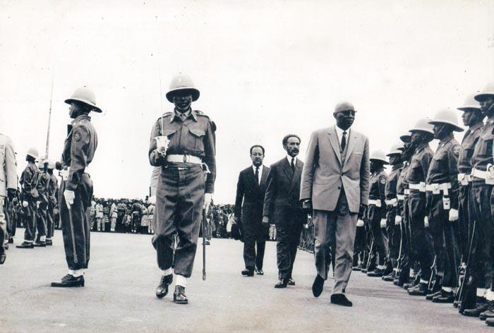 Le roi Mwambutsa en visite officielle en Éthiopie ©dr