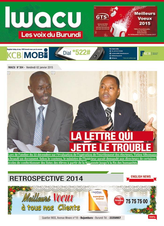 IWACU Hebdomadaire n°304